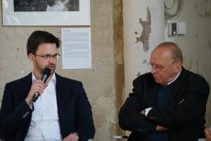 Dr. Jan Phillip Wölbern und Pfarrer Wittkopf