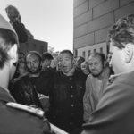Besetzung der Stasi Zentrale, Ministerium für Staatssicherheit (MFS) in der Normannenstrasse. Berlin Ost 4.09.1990 © Ann-Christine Jansson