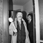 Wolf Biermann bei der Besetzung der Stasi Zentrale, Ministerium für Staatssicherheit (MFS) in der Normannenstrasse. Berlin Ost 4.09.1990 © Ann-Christine Jansson