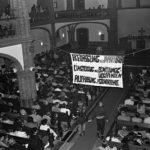 Mahnwache in der Gethsemanekirche. Protest Treffpunkt und Diskussionsort der Opposition in DDR. © Ann-Christine Jansson