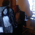 Zufällige Jacken-Kunst beim Gespräch nach der Podiumsrunde  © N. Specker
