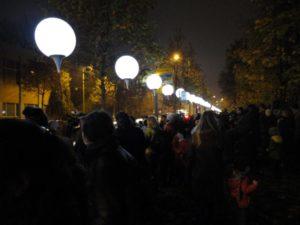9. November 2014 – Lichtergrenze zum 25. Jahrestag der Maueröffnung